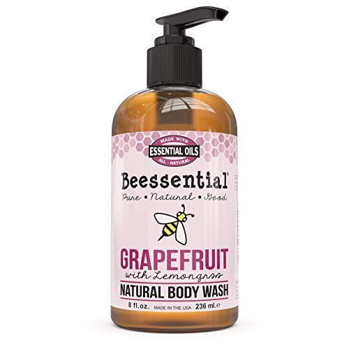 Beessential Body Wash, Grapefruit And Lemongrass, 8 Ounce