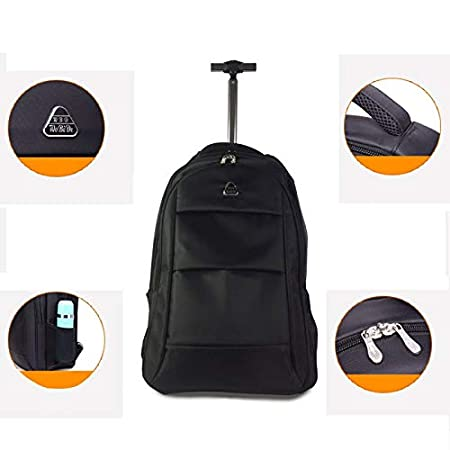 Color : Black, Size : 48x20x30cm Color Optional 19/21 Inch Business Bag for Men and Women Computer Backpack XIANWEI Trolley Backpack Shoulder Trolley Bag