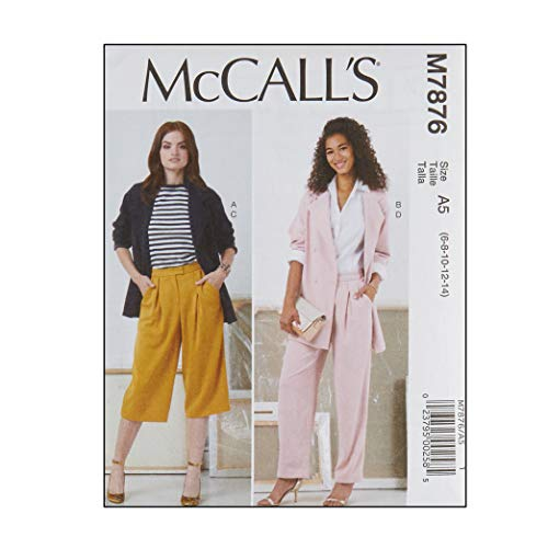 McCall's Patterns M7876 Misses' Jackets and Pants A5 (Sizes 6-14) Multi