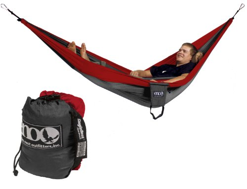 Eagles Nest Outfitters SingleNest Hammock (Red/Charcoal), Outdoor Stuffs