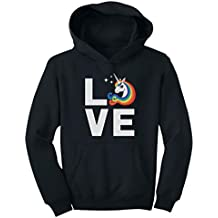 TeeStars - I Love Unicorns - Magical Mythical Rainbow Unicorn Gift Youth Hoodie