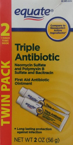 Equate Triple Antibiotic First Aid Ointment, 1 Oz Tubes (4 Tubes)