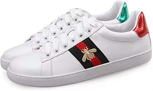 Preslovemm Classic Fashion Bee White Shoes (39EU, White)