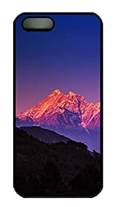 iPhone 5 5S Case landscapes nature snow mountain 32 PC Custom iPhone 5 5S Case Cover Black