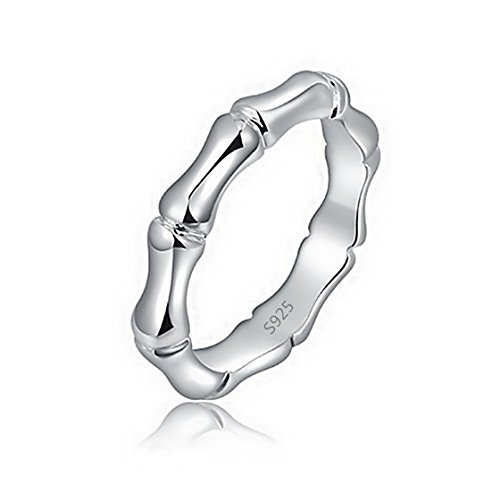 PSRINGS Bamboo Styling 925 Sterling Silver Rings Girl Jewelry Love ever Friends 7.5