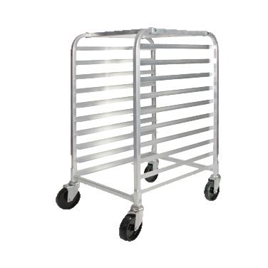 Winco Heavy-Duty Aluminum Mobile Sheet Pan Rack Half Height 26'' Wide
