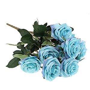 Fityle Artificial Flowers French Roses Bouquets Silk Flowers Bunch 10 Heads Wedding Holiday Bouquet Floral Decor 45