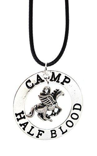 Die letzten Olympischen Lusignan Percy Jackson Pegasus Zeus Half Blood Halskette in Geschenkbox Beaux Bijoux