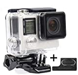 Yimobra Waterproof Housing for Gopro Hero 4 3+ Protective Rotective Underwater Dive Hero Case Transparent (Presented One More Clip)