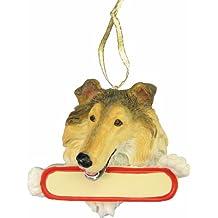 Santas Pals Christmas Dog Ornament - Collie