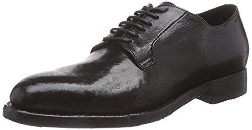 Sassetti Schwarz cordones zapatos negro de Silvano cuero con CHARCOAL mujer S09241XS15GBVNCCHA NERO dfzqWnwH