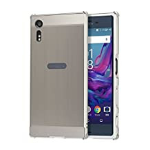 Sony Xperia X Compact Case [Metal Frame] Shock-Absorption and Anti-Scratch Premium Aluminum Bumper Case Cover with Push-Pull Frame for Sony Xperia X Compact (silver)