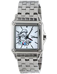 Disney Women's W000929 Square Steel Tinker Bell Silver Tone Bracelet Strap Watch