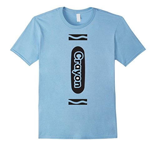 Light Blue Crayon Costume (Mens Halloween Group Costume T Shirt Light Blue Crayon Funny Large Baby Blue)