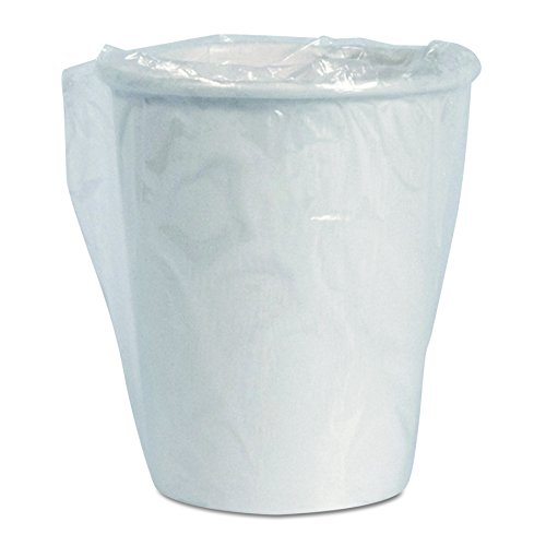 Dart W370 Wrapped Single-Sided Poly Paper Hot Cups, 10oz, White, 24 per Bag (Case of 20 Bags)