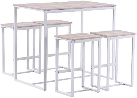 Bonnlo Pub Table Set 5 Pieces Bar Height Table