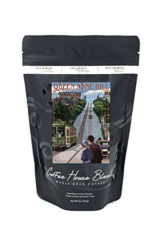 Queen Anne Hill Counterbalance - Seattle, Washington (8oz Whole Bean Small Batch Artisan Coffee - Bold & Strong Medium Dark Roast w/ Artwork)