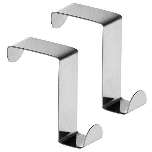 Bst Door - BST Door Hooks Stainless Steel Reversible Over Door Cabinet Drawer Towel Coat Hooks