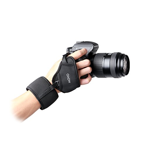 Movo Photo HSG-7 Deluxe Neoprene Soft Padded Dual Wrist and Grip Strap for Canon EOS, Nikon, Sony, Olympus, Pentax & Panasonic DSLR Cameras from Movo