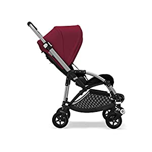 Bugaboo Bee 5, Foldable and Lightweight Pushchair, Converts Into Pram, Black/Ruby Red