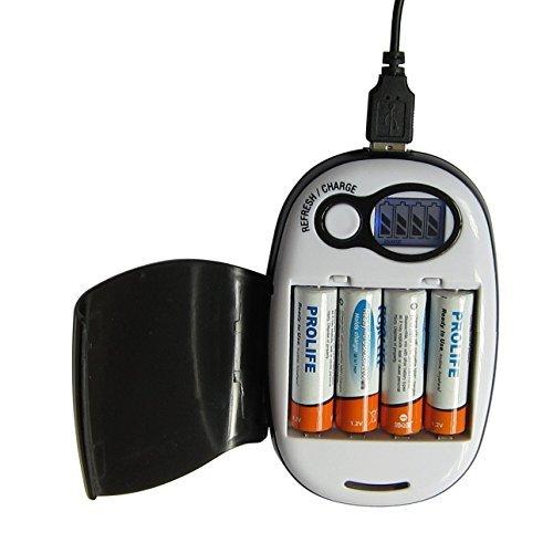 PortaPow Smart USB Charger for AA + AAA Ni-Mh/Ni-Cd Rechargeable Batteries V2