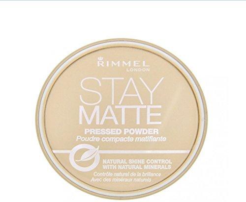 Rimmel London Stay Matte Pressed Powder, Sandstorm [004], 0.49 oz (Pack of 4)