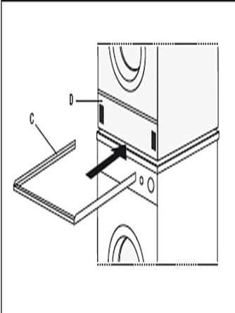 Construcción de bastidor intermedio para la lavadora / Secadora Para lavadora - torre de secado sin Extracto de Conny-smart ® fabricado en aluminio mejor calidad ninguna Artículos para el enchufe