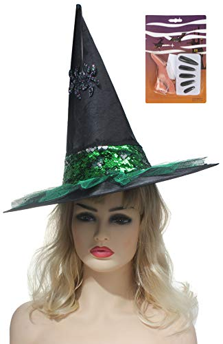 Myjoyday Halloween Skull Headpiece Cosplay Accessories Party Headwear Supplies Girls Women (Witch Hat) ()