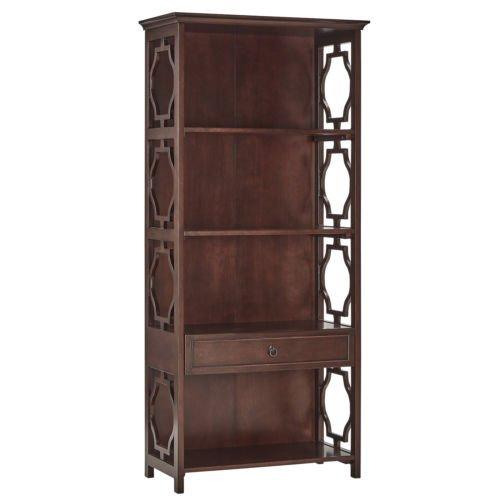 tribecca-home-espresso-manor-quatrefoils-lattice-1-drawer-bookcase-shelving