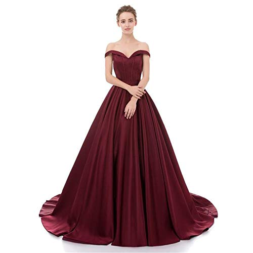 70ff5f3705 Bride wedding dress Women Wedding Dress Off Shoulder Bridal Dresses V Neck  Sweetheart Floor Length Bride Dress Maxi Long Evening Prom Dress A-Line  Satin ...
