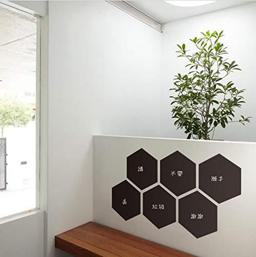 Vinilos Infantiles 6 Unids/Lote Hexagon Blackboard Pvc ...
