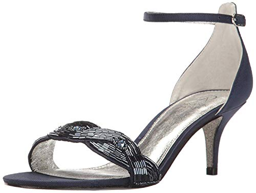Adrianna Papell Women's Aerin Dress Sandal, Navy, 6.5 US/6.5 M US