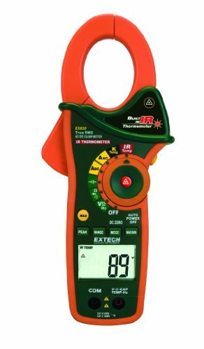 Extech EX830 1000 Ampere AC/DC True RMS Clamp Meter with Infrared Thermometer by Extech Instruments