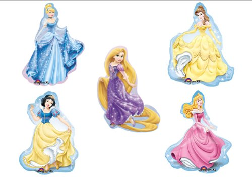 Disney Princess BIRTHDAY PARTY Balloons Decorations Supplies SET OF 5!! -