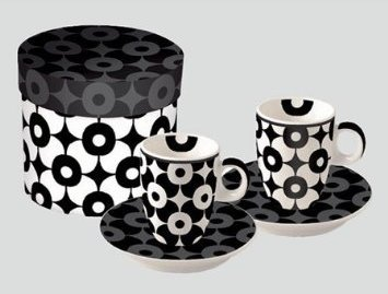 Germany Demitasse (Paperproducts Design Flower Dots Espresso Cup and Saucer, Set of 2)