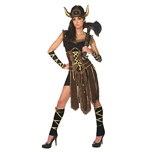 Womens Viking Costume Female Vikings Clothing Nordic Warrior Dress for Women -