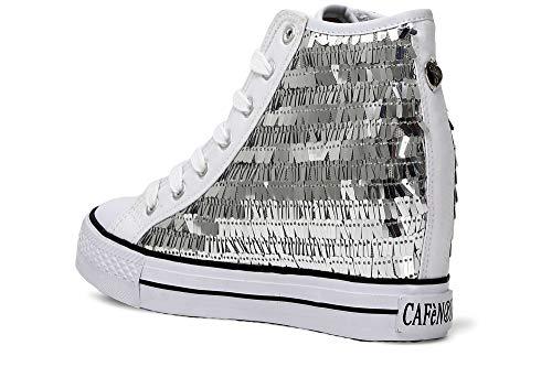 Dg921 Platino E18 Cafè argento Donna Su Zeppa Cafènoir 204 Noir Sneaker Argento 1nwCqxYTH
