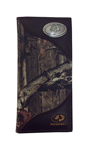 (Mossy Oak Long Nylon Roper Camo Wallet With Mossy Oak Emblem And)