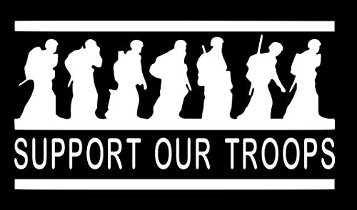 - Home Grown Claremore Support Our Troops - Vinyl Decal Sticker | 5.5