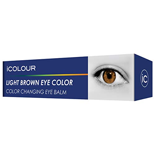 iCOLOUR Color Changing Eye Balm - Change Your Eye Color Naturally - 1 Month Supply - 4.3 g (Light Brown)