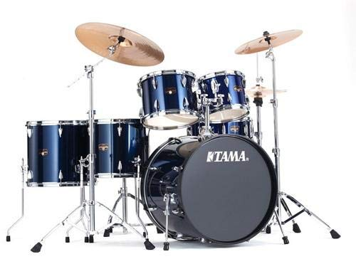 Tama Imperialstar 6-Piece Complete Drum Set with Meinl HCS Cymbals - FREE PROMO CYMBAL PACK - Midnight Blue - Pack Cymbal Promo