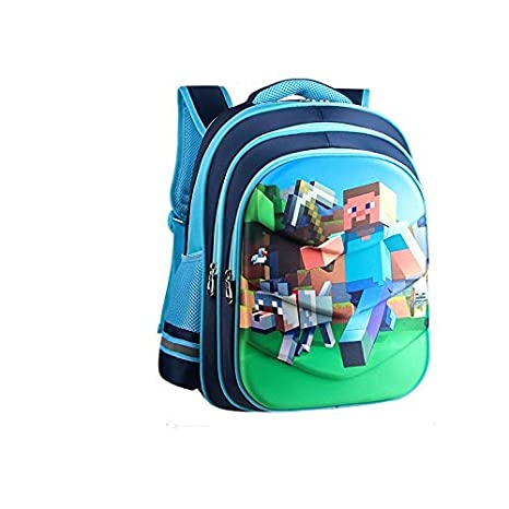 Image Unavailable. Image not available for. Color  2018 Children Backpacks  Kindergarten Backpack Boy Cute Minecraft Cartoon Back Pack Hot Gift School  ... 57b4276fe2