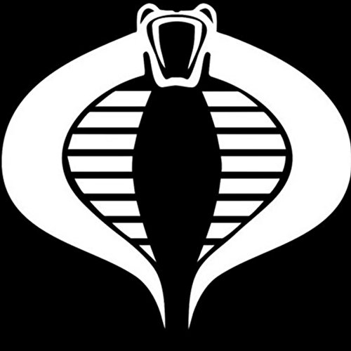 Costumes Eyes Storm Shadow And Snake (Cobra GI Joe Vinyl Decal Sticker|Cars Trucks Vans Walls Laptops Cups|WHITE|5.5)