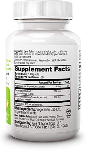 Avie Nutraceuticals Joint Balance Capsules, 60 Count – Water-Soluble Curcumin – Boswellia – Formulated for Maximum Absorption and Bioactivity – No Piperine