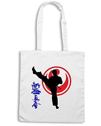 T-Shirtshock - Bolsa para la compra TAM0191 karate keri mens tshirt Blanco