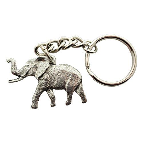 (Sarah's Treats & Treasures Elephant Keychain ~ Antiqued Pewter ~ Keychain)