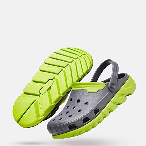 da e dimensioni spiaggia antiscivolo di casual da scarpe scarpe estate WFL pantofole traspirante sandali morbido Baotou grandi scarpe 1 Foro fondo uomo marea aEgSw