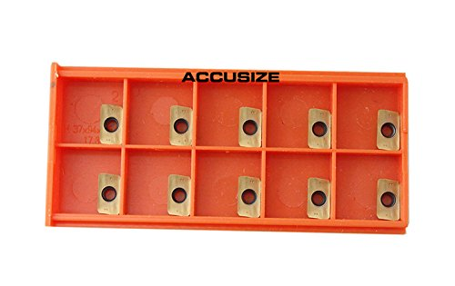 Accusize Tools - 10 Pcs/Box Carbide Inserts APKT11T308 TiN Coated, 0056-1130 by Accusize Industrial Tools