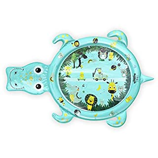 """SHXKUAN Inflatable Baby Tummy Time Mat Water Playmat Activity Center Infant Toys for Baby and Toddlers, 48"""" 31"""""""
