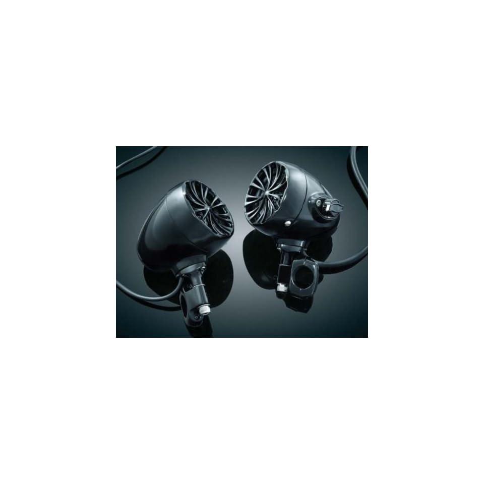 "Kuryakyn Harley Davidson Motorcycle The Sound of Chrome Handlebar Speakers  Gloss Black 1"" by Kuryakyn. Kuryakyn 832 Automotive"